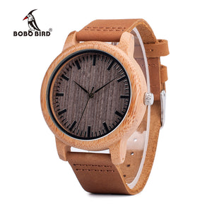 BOBO BIRD V-A18 Quartz Bamboo Watch
