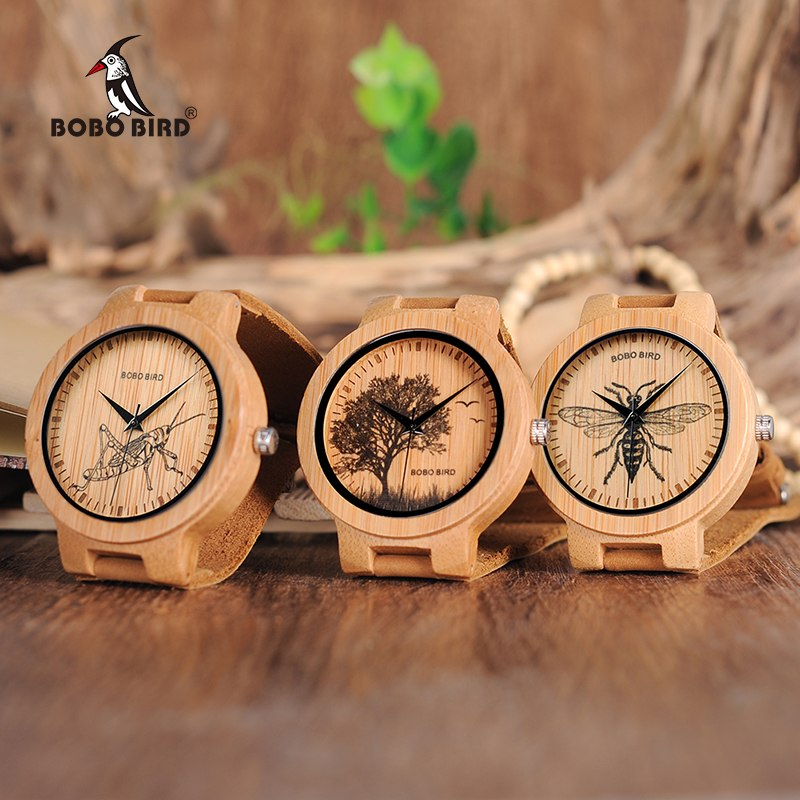 BOBO BIRD Special Designed Quartz Bamboo Watch
