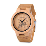 BOBO BIRD Special Designed Quartz Bamboo Watch with grasshopper