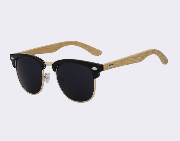 Clubmaster Sunglasses with gloss black frame