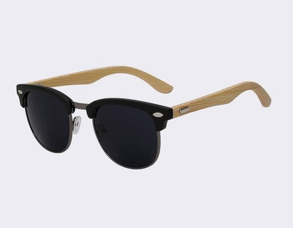 Clubmaster Sunglasses with matte black frame