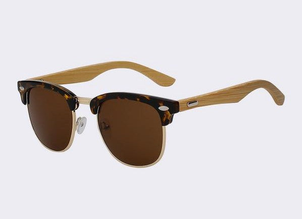 Clubmaster Sunglasses with leopard brown