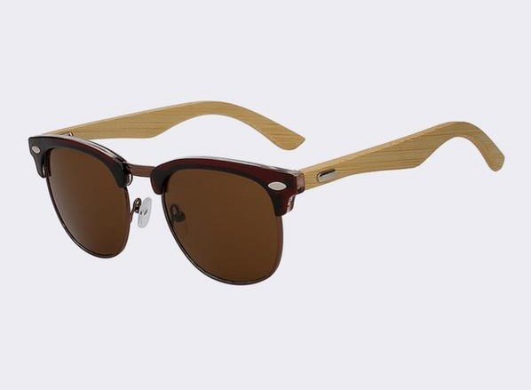 Clubmaster Sunglasses with brown frame and lens