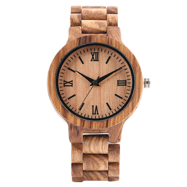 YISUYA W28410 Quartz Bamboo Watch dark