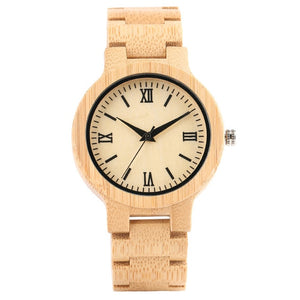 YISUYA W28410 Quartz Bamboo Watch natural