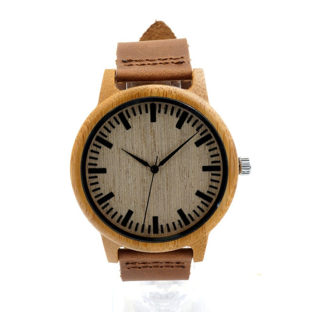 BOBO BIRD Luxury Quartz Bamboo Watch