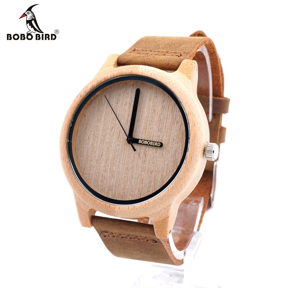 BOBO BIRD A22 Quartz Bamboo Watch