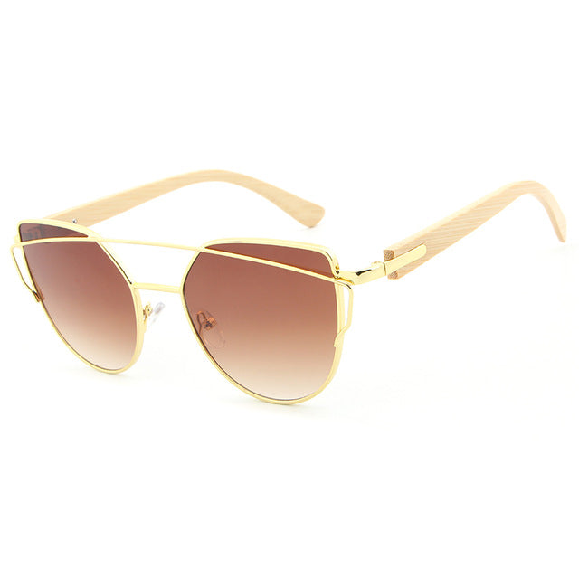 Trending Pilot Women Sunglasses with golden frame and tea color lens