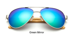 Original Pilot Sunglasses with green color lens