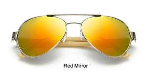 Original Pilot Sunglasses with red color lens