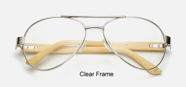 Original Pilot Sunglasses clear frame