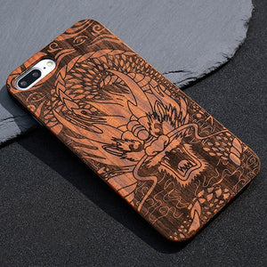 Designed Bamboo Phone Case
