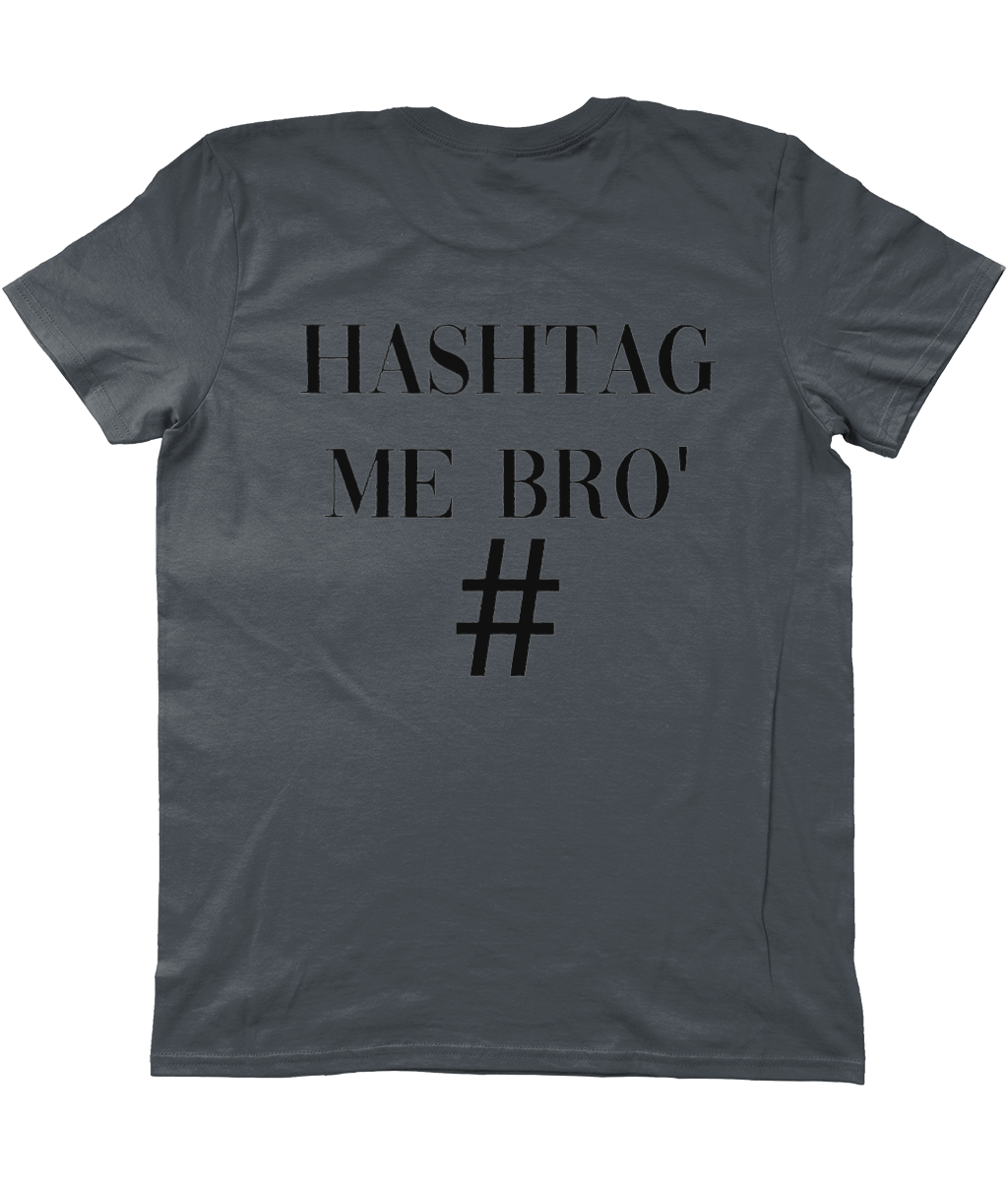 AG Wear Basic T-Shirt Hashtag Back Logo 2 HASHTAG ME BRO BLACK