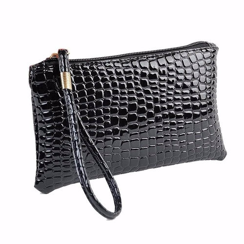 Women Wallet Purse Handbag Womens Crocodile PU
