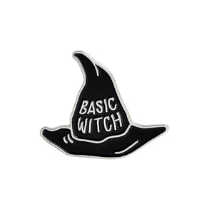 Witch Hat Brooch BASIC WITCH Enamel Pins Buckle Denim Jacket Shirt Collar Lapel Pin Badge Jewelry Gift