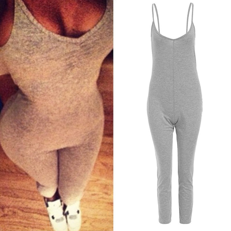 V Neck Bodycon Jumpsuit