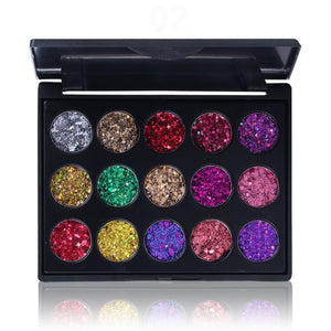 15 Colors Pressed Glitter Eyeshaddow Palette