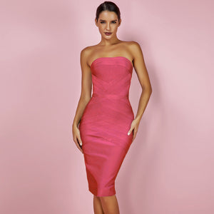 Midi Strapless Bandage Dress