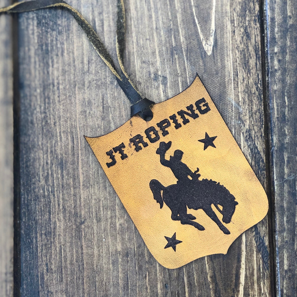 JT Roping Leather Tag