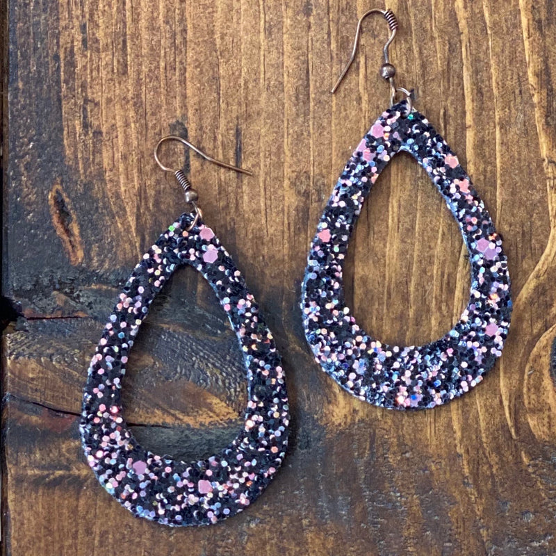 Party Starter Teadrop Glitter Earrings