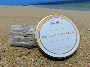 Mango + Papaya 3.5 oz. Travel Tin Soy Candle