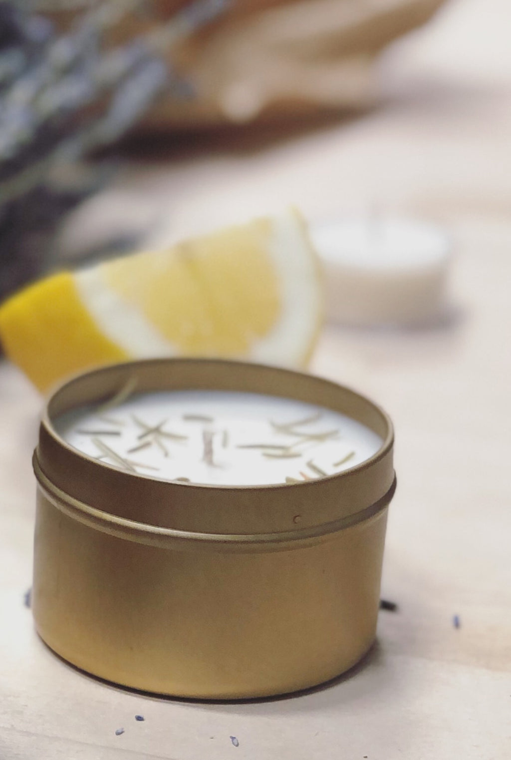 Lemon + Rosemary Essential Oil Candle