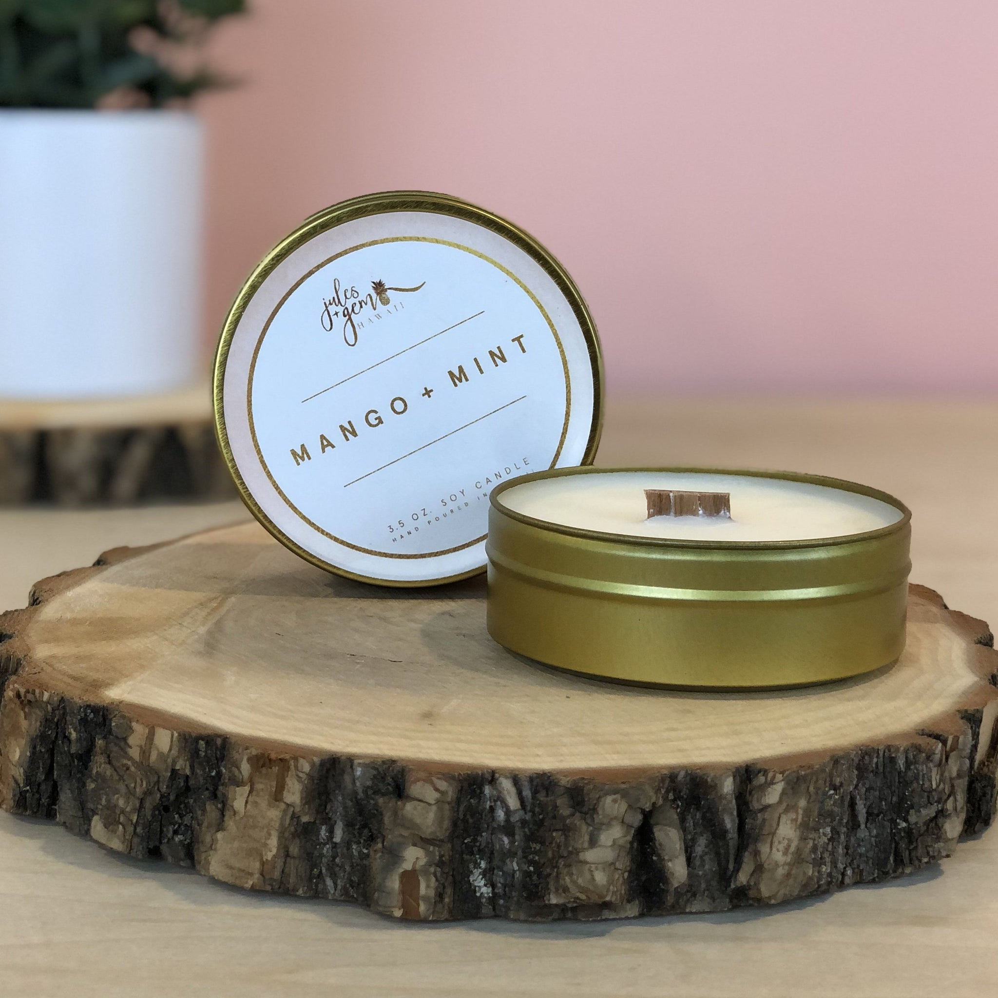 Mango + Mint 3.5 oz. Travel Tin Soy Candle