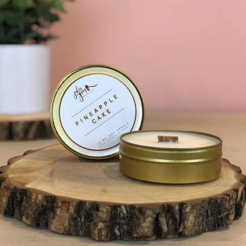 Pineapple Cake 3.5 oz. Travel Tin Soy Candle