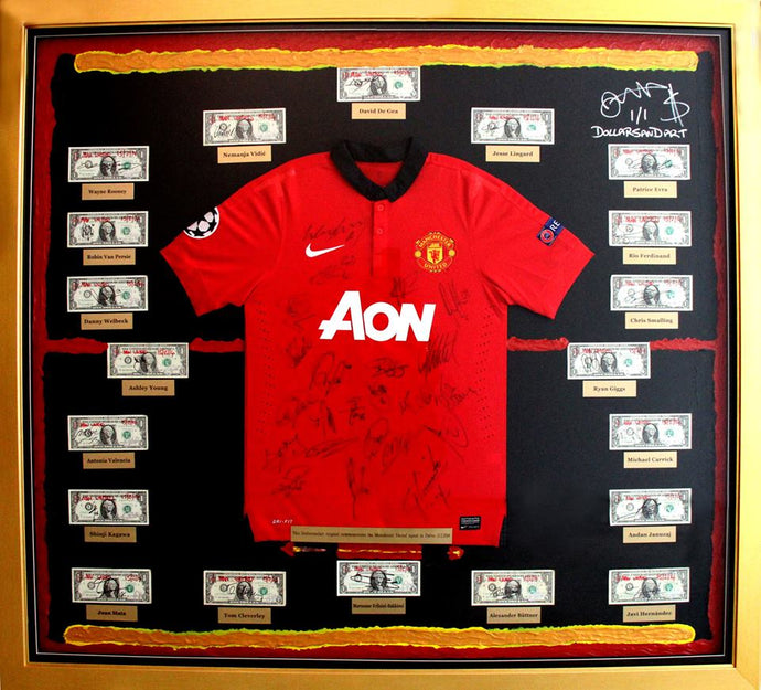8. RARE and authentic Manchester United one off collectable (2014)