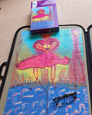 Jigsaw 1,000 piece Focused Flamingoes