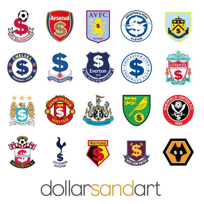 Premier League 2019/2020 Lucky Crests all in one