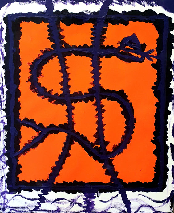Orange purple stamp (2019)