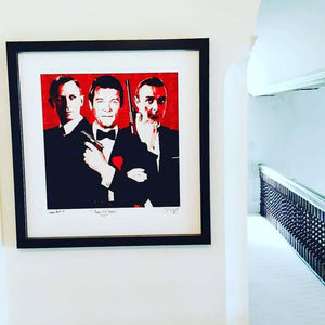Bond - Triptych Fine Art Print with the best 3 bonds