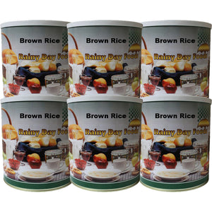 Brown Rice - Case #10 cans