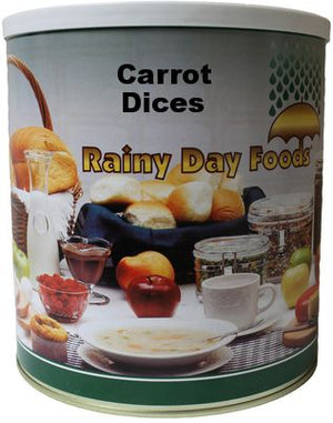Dehydrated Carrot Dices - Case of #10 Cans