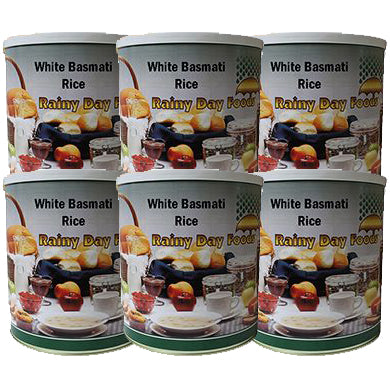 Basmati White Rice - Case of #10 cans