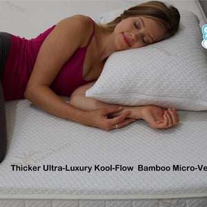 Snuggle-Pedic Thicker Ultra-Luxury Kool-Flow Bamboo Micro-Vented Cover