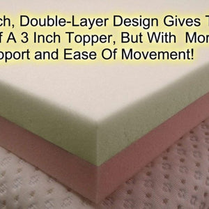 Reversable 2 inch mattress topper