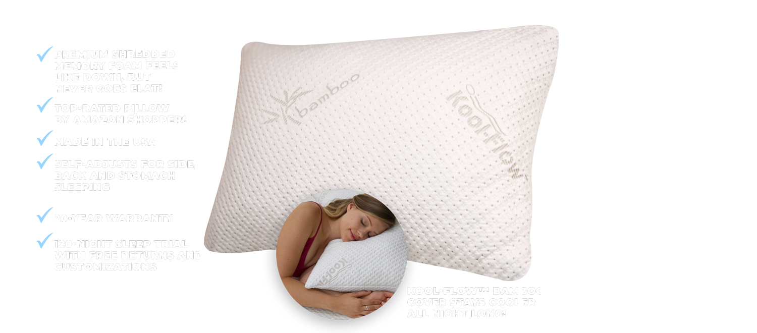 features and benefits of a snuggle-pedic memory foam pillow