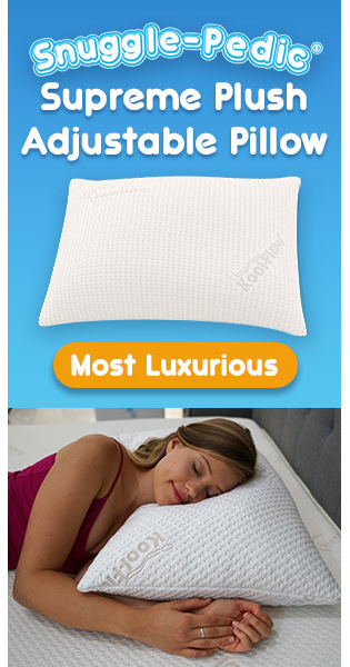 snuggle-pedic supreme plush adjustable pillow