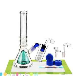 Bongby - Camryn + Wax Container - Custom Made Ash Catcher Blue Bong Bongs Clear Free Shipping United States 2018 Bongby.com