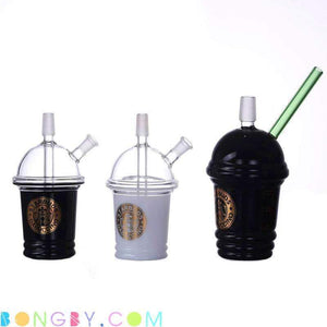 Bongby - Coffee Cup - Custom Made 14Mm Black Bong Bongs Clear Free Shipping United States 2018 Bongby.com