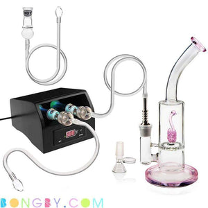 Bongby - Digital Nail Kit Black Iii + Bong - Custom Made Aromatheropy Black Clear Digital Digital Nail Free Shipping United States 2018