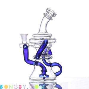 Bongby - Tinley - Custom Made 14Mm Blue Bong Bongs Clear Free Shipping United States 2018 Bongby.com