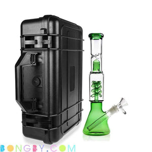 Bongby - Travel Case + Bong I - Custom Made Black Bong Bongs Case Clear Free Shipping United States 2018 Bongby.com