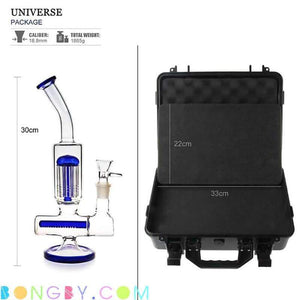 Bongby - Travel Case + Bong V - Custom Made Black Blue Bong Bongs Case Free Shipping United States 2018 Bongby.com
