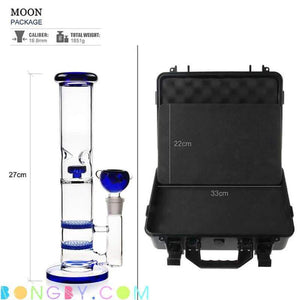 Bongby - Travel Case + Bong Vi - Custom Made Black Blue Bong Bongs Case Free Shipping United States 2018 Bongby.com