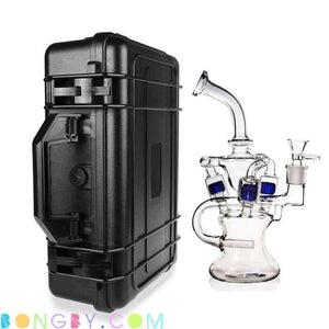 Bongby - Travel Case + Bong Vii - Custom Made Black Blue Bong Bongs Case Free Shipping United States 2018 Bongby.com