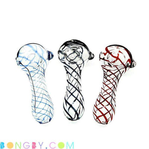 Bongby - Twist V - Custom Made Clear For-Sale Glass Hand Pipe Pipe Free Shipping United States 2018 Bongby.com