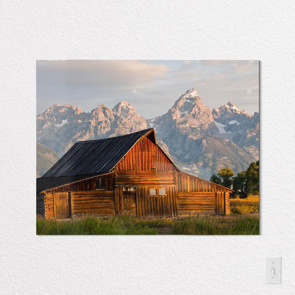 Wyoming Shaped Metal Prints